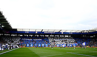 Leicester City fans display banners during the Barclays Premier League match between Leicester City and Swansea City played at The King Power Stadium, Leicester on 24th April 2016
