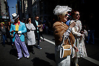 people walk by the Fifth avenue during the annual easter parade in Manhattan, New York, 03.27.2016. This annual tradition has been taking place in New York City for over 100 years, Photo by VIEWpress.