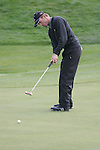 Raphael Jacquelin putts on the 7th hole in Friday Fourball's at the Seve Trophy on the 28th of September 2007 at the The Heritage Golf & Spa Resort, Killenard, Co Laois, Ireland. (Photo by Manus O'Reilly/NEWSFILE)