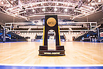 07 MAY: The National Championship trophy before the start of the Brigham Young University and Ohio State University match at the Division I Men's Volleyball Championship held at Rec Hall on the Penn State University campus in University Park, PA. Ohio State defeated BYU 3-1 for the national title. Ben Solomon/NCAA Photos