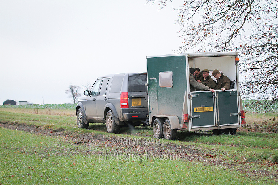 Shooting trailer behind a 4 x 4