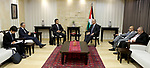 Palestinian Prime Minister, Rami Hamdallah, meets with Japanese Ambassador to Palestine Takeshi Okubo, in the West Bank city of Ramallah, on October 11, 2017. Photo by Prime Minister Office