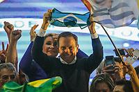 ÃO PAULO, SP, 28.10.2018 –ELEIÇÕES 2018–O governador eleito do estado de São Paulo, João Doria (PSDB), em discurso após anúncio da vitória, no Club Homs, neste domingo 28. (Foto: Danilo Fernandes/Brazil Photo Press)