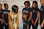 Cicely Tyson and Harlem Figure Skaters - The 11th Annual Skating with the Stars Gala - a benefit gala for Figure Skating in Harlem - honoring Cicely Tyson (film, tv and stage actress and was on The Guiding Lignt) on April 11, 2016 on Park Avenue in New York City, New York with many Olympic Skaters and Celebrities. (Photo by Sue Coflin/Max Photos)