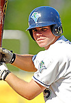 30 June 2007: Vermont Lake Monsters outfielder Mark Gildea awaits his turn in the batting cage prior to a game against the Lowell Spinners at Historic Centennial Field in Burlington, Vermont. The Spinners defeated the Lake Monsters 8-4 in the last game of their 3-game, NY Penn-League series...Mandatory Photo Credit: Ed Wolfstein Photo