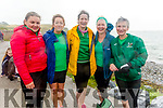 Maura Twist, Clare Conway, Breda Regan, June Cunningham and Cathriona Hayes from Cromane RC at the Fenit Regatta on Sunday.