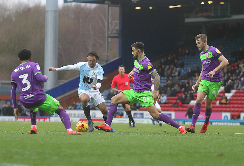 Blackburn Rovers Bradley Dack<br /> <br /> Photographer Mick Walker/CameraSport<br /> <br /> The EFL Sky Bet Championship - Blackburn Rovers v Bristol City - Saturday 9th February 2019 - Ewood Park - Blackburn<br /> <br /> World Copyright © 2019 CameraSport. All rights reserved. 43 Linden Ave. Countesthorpe. Leicester. England. LE8 5PG - Tel: +44 (0) 116 277 4147 - admin@camerasport.com - www.camerasport.com