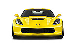 Car photography straight front view of a 2018 Chevrolet Corvette Z06-Coupe-1LZ 3 Door Targa Front View