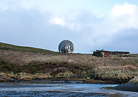 Old radar buildings and equipment in Cold Bay, Alaska, Thursday, November 3, 2016. The Izembek National Wildlife Refuge lies on the northwest coastal side of central Aleutians East Borough along the Bering Sea. <br /> <br /> Photo by Matt Nager
