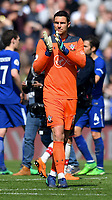 Southampton's Alex McCarthy applauses the fans for their support  <br /> <br /> Photographer David Horton/CameraSport<br /> <br /> The Premier League - Southampton v Chelsea - Saturday 14th April2018 - St Mary's Stadium - Southampton<br /> <br /> World Copyright &copy; 2018 CameraSport. All rights reserved. 43 Linden Ave. Countesthorpe. Leicester. England. LE8 5PG - Tel: +44 (0) 116 277 4147 - admin@camerasport.com - www.camerasport.com