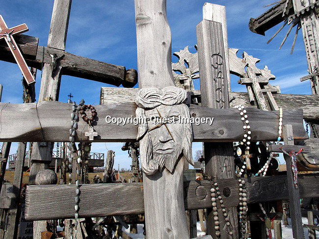 The Hill of Crosses, located 12 kilometers north of the small industrial city of Siauliai is the Lithuanian national pilgrimage center. Standing upon a small hill are many hundreds of thousands of crosses that represent Christian devotion and a memorial to Lithuanian national identity. <br />