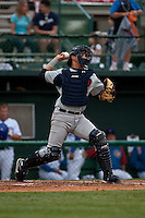April 10th 2010: Anderson De La Rosa of the Brevard County Manatees, the Florida State League High-A affiliate of the Milwaukee Brewers in a game against the of the Daytona Cubs, the Florida State League High-A affiliate of the Chicago Cubs at Jackie Robinson Ballpark in Daytona Beach, FL (Photo By Scott Jontes/Four Seam Images)