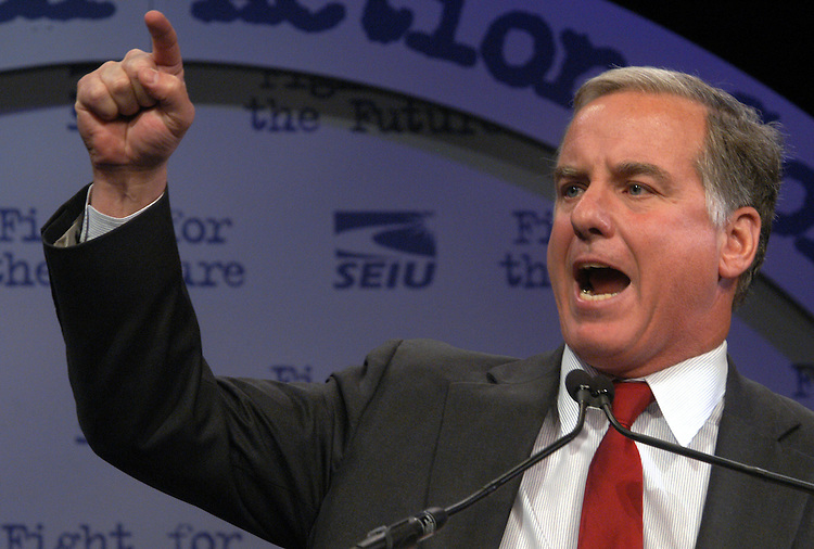 Fmr. Governor Howard Dean, a 2004 Democratic presidential candidate, speaks at the Service Employees International Union political action convention in Washington, DC.