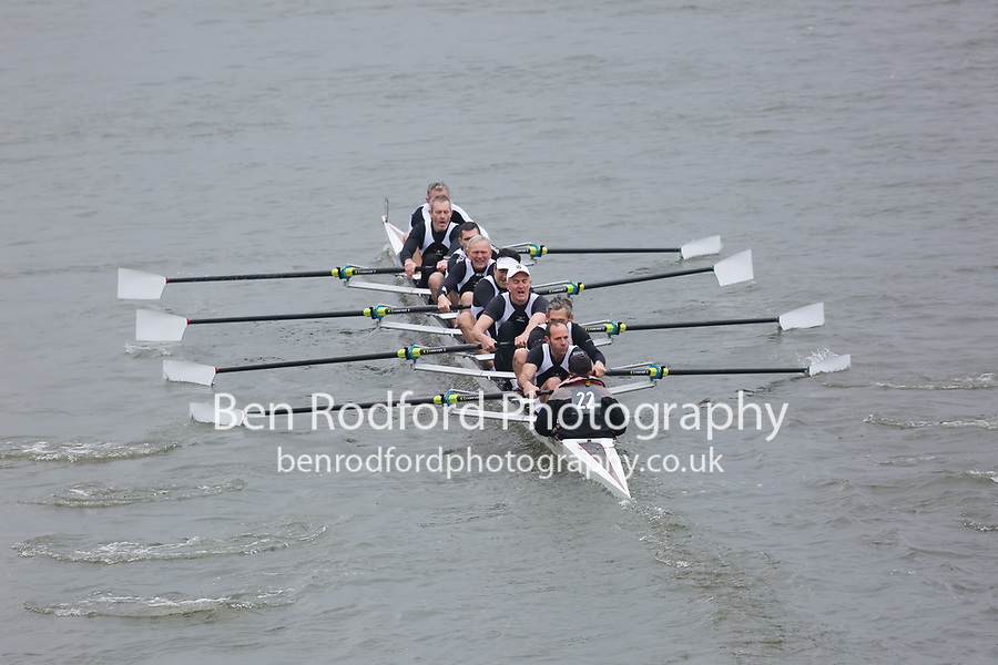 Crew: 22   Molesey Boat Club   MasC.8+<br /> <br /> Veterans' Head of the River Race 2018<br /> <br /> To purchase this photo, or to see pricing information for Prints and Downloads, click the blue 'Add to Cart' button at the top-right of the page.