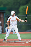 Will Albertson (17) of the Asheboro Copperheads at bat against the Gastonia Grizzlies at McCrary Park on June 1, 2015 in Asheboro, North Carolina.  The Copperheads defeated the Grizzlies 11-6. (Brian Westerholt/Four Seam Images)
