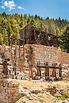 Ruins of Mill A & Mill B that processed the ore for the Granite Mountain Mining Company Ruby shaft mine