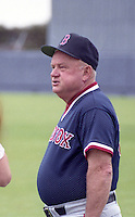 Boston Red Sox coach Don Zimmer during spring training circa 1992 at Chain of Lakes Park in Winter Haven, Florida.  (MJA/Four Seam Images)