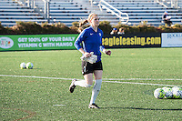 Allston, MA - Sunday, April 24, 2016: Boston Breakers goalkeeper Libby Stout (1). The Boston Breakers play Seattle Reign during a regular season NSWL match at Harvard University.