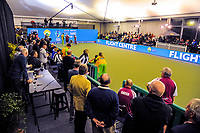 The final end is completed during the Bowls Premier League final between the Gold Coast Hawks and Brisbane Pirates at Naenae Bowling Club in Wellington, New Zealand on Thursday, 26 April 2018. Photo: Dave Lintott / lintottphoto.co.nz