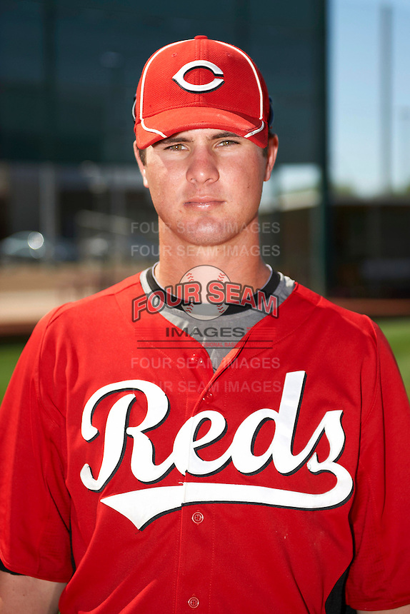 Cincinnati Reds minor league outfielder Jesse Winker #23 poses for a photo before an instructional league game against the Cleveland Indians at the Goodyear Training Complex on October 8, 2012 in Goodyear, Arizona.  (Mike Janes/Four Seam Images)