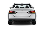 Straight rear view of 2019 Nissan Altima SR-FWD 4 Door Sedan Rear View  stock images