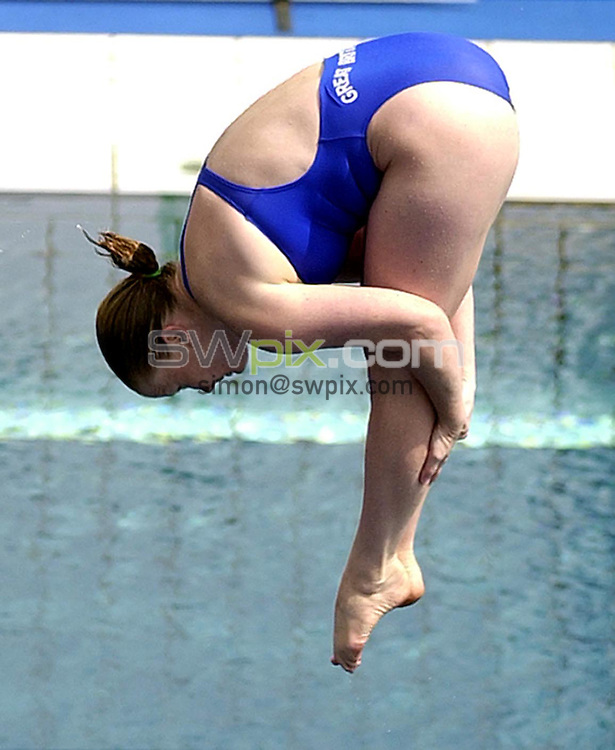 Pix: Matthew Lewis/SWpix.com. Diving. 10th Fina World Championships 2003, Barcelona. 14/07/2003...COPYRIGHT PICTURE>>SIMON WILKINSON>>01943 436649>>..Great Britain's Tandi Gerrard competes in the Womens 1m Springboard Preliminary's.
