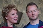 """15. 01.2019, Hotel im Wasserturm, Kaygasse 2, Koeln,  GER, Pressefototermin ZDF 25. Film Krimireihe Marie Brand, """"und das Spiel mit dem Glueck"""", <br /> <br /> im Bild / picture shows: <br /> Hinnerk Schönemann / Schoenemann Schauspieler und Assistent von Marie Brand, Mariele Millowitsch Schauspielerin und Hauptdarstellerin in der Serie """"Marie Brand"""", <br /> <br /> Foto © nordphoto / Meuter"""