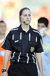 24 August 2013: Fourth official Shannon Poplstein. The Carolina RailHawks played the Minnesota United FC Loons at WakeMed Stadium in Cary, NC in a 2013 North American Soccer League Fall Season game. Carolina won 1-0.