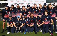 England winning team photo. <br /> New Zealand Blackcaps v England. 5th ODI International one day cricket, Hagley Oval, Christchurch. New Zealand. Saturday 10 March 2018. &copy; Copyright Photo: Andrew Cornaga / www.Photosport.nz