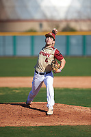 Tommy Biggs (4) of West Monroe High School in Columbia, Louisiana during the Baseball Factory All-America Pre-Season Tournament, powered by Under Armour, on January 13, 2018 at Sloan Park Complex in Mesa, Arizona.  (Zachary Lucy/Four Seam Images)