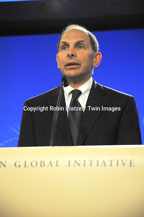 Bob McDonald, CEO of Procter and Gamble speaks at the Press Conference at the Clinton Global Initiative for Proctor and Gamble and Smokey Robinson to announce new Social Media Partnership for Clean Drinking Water on September 23, 2012 at The Sheraton Hotel in New York City.