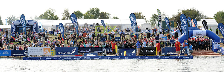 PICTURE BY ALEX BROADWAY/SWPIX.COM - British Gas Great East Swim, Holbrook, Ipswich. 26/09/09..Copyright - Simon Wilkinson - 07811267706...A general view of the event. .