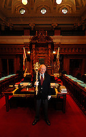 British Columbia Parliament's Sergeant-at-Arms and his Mace.