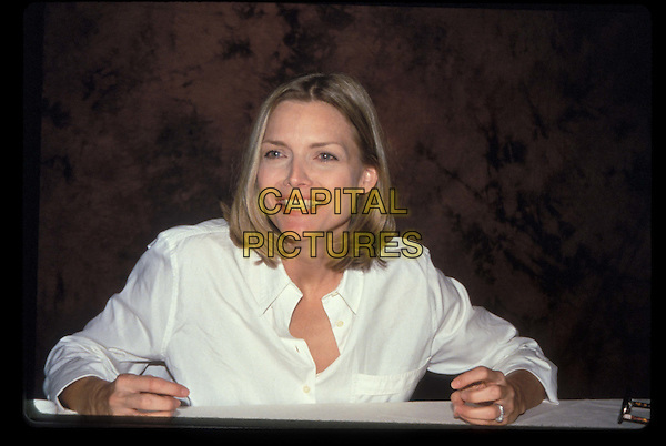 MICHELLE PFEIFFER.portrait, headshot, smiling.*RAW SCAN- photo will be adjusted for publication*.www.capitalpictures.com.sales@capitalpictures.com.©Capital Pictures
