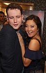 Grey Henson and Ashley Park attends the 63rd Annual Drama Desk Awards Nominees Reception on May 9, 2018 at Friedmans in the Edison Hotel in New York City.