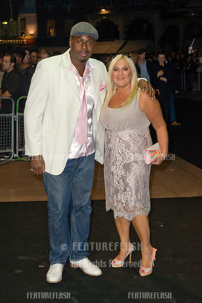 Vanessa Feltz and husband Ben arriving for the Oswald Boateng Fashion Show, Odeon Leicester Square, London. 22/09/2010  Picture by: Simon Burchell / Featureflash.