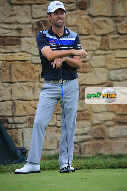 Robert Streb (USA) waits on the 9th tee during Friday's Round 1 of the 2016 U.S. Open Championship held at Oakmont Country Club, Oakmont, Pittsburgh, Pennsylvania, United States of America. 17th June 2016.<br /> Picture: Eoin Clarke | Golffile<br /> <br /> <br /> All photos usage must carry mandatory copyright credit (&copy; Golffile | Eoin Clarke)
