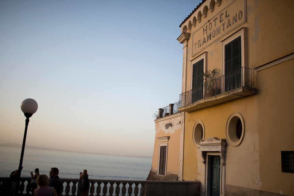 Hotel Tramontana is seen at sunset on Thursday, Sept. 17, 2015, in Sorrento, Italy. (Photo by James Brosher)
