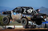Apr 16, 2011; Surprise, AZ USA; LOORRS driver Brent Fouch (21) during round 3 at Speedworld Off Road Park. Mandatory Credit: Mark J. Rebilas-.