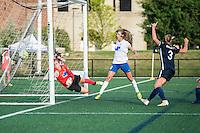 Allston, MA - Sunday July 17, 2016: Jami Kranich, Julie King, Christie Rampone during a regular season National Women's Soccer League (NWSL) match between the Boston Breakers and Sky Blue FC at Jordan Field.