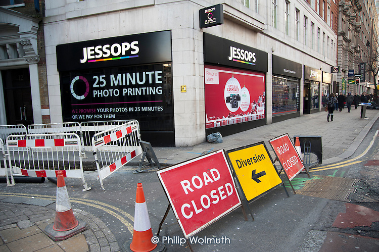 Closed down Jessops photographic store in New Oxford Street, central London, in the week the company went into administration.