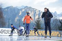 SPEED SKATING: COLLALBO: Arena Ritten, 10-01-2019, ISU European Speed Skating Championships, Letitia de Jong (NED), Erwin ten Hove (Trainer/coach), ©photo Martin de Jong