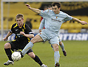 02/02/2008    Copyright Pic: James Stewart.File Name : sct_jspa01_livingston_v_partick_th.SCOTT CHAPLIN BEATS ALAN WALKER TO THE BALL.James Stewart Photo Agency 19 Carronlea Drive, Falkirk. FK2 8DN      Vat Reg No. 607 6932 25.Studio      : +44 (0)1324 611191 .Mobile      : +44 (0)7721 416997.E-mail  :  jim@jspa.co.uk.If you require further information then contact Jim Stewart on any of the numbers above........