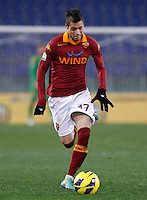 Calcio, ottavi di finale di Coppa Italia: Roma vs Atalanta. Roma, stadio Olimpico, 11 dicembre 2012..AS Roma forward Nico Lopez, of Uruguay, in action during their Italy Cup last-16 tie football match between AS Roma and Atalanta at Rome's Olympic stadium, 11 December 2012..UPDATE IMAGES PRESS/Isabella Bonotto