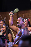 A Maori warrior from New Zealand performs the traditional Haka dance at the first ever International Indigenous Games, in the city of Palmas, Tocantins State, Brazil. The games will start officially with an opening ceremony on Friday the 23rd October. Photo © Sue Cunningham, pictures@scphotographic.com 21st October 2015