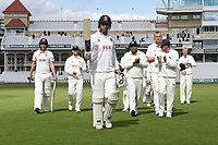 Tom Westley of Essex leaves the field having clinched victory for his team during Nottinghamshire CCC vs Essex CCC, Specsavers County Championship Division 1 Cricket at Trent Bridge on 13th September 2018
