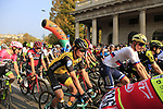 Promoz Roglic (SLO) Team LottoNL-Jumbo at the start of the 112th edition of Il Lombardia 2018, the final monument of the season running 241km from Bergamo to Como, Lombardy, Italy. 13th October 2018.<br /> Picture: Eoin Clarke | Cyclefile<br /> <br /> <br /> All photos usage must carry mandatory copyright credit (© Cyclefile | Eoin Clarke)