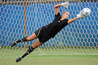 30 August 2009:  FIU's Melanie Raimo (1) dives for a save during warm-ups prior to FIU's match against Florida Gulf Coast University  at University Park Stadium in Miami, Florida.