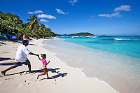Kids enjoying the day<br /> Hawksnest Beach <br /> Virgin Islands National Park<br /> St. John, U.S. Virgin Islands