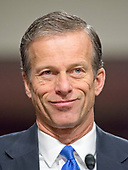 United States Senator John Thune (Republican of South Dakota) appears before the US Senate Armed Services Committee in support of the nomination of former US Representative Heather A. Wilson (Republican of New Mexico) to be Secretary of the Air Force on Capitol Hill in Washington, DC on Thursday, March 30, 2017.<br /> Credit: Ron Sachs / CNP